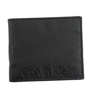 送料無料 カルバンクライン CK79475 Calvin Klein 財布 二つ折り財布 ブラック レザー 小銭入れ ブランド 父の日 79475|zumi