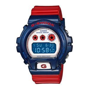 送料無料 CASIO DW-6900AC-2 G-SHOCK メンズ ブルー&レッドシリーズ ホワイト デジタル 防水 腕時計 カシオ ジーショック 希少カラー|zumi