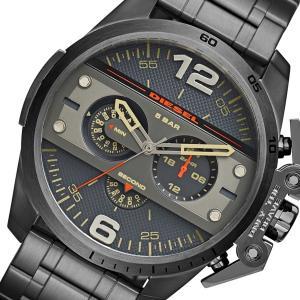 ディーゼル DIESEL DZ4363 クォーツ腕時計 ブラックガンメタ アイアンサイド クロノグラフ