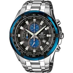 CASIO カシオ EDIFICE エディフィス EF-539D-1A2 ブルー×シルバー 腕時計 メンズ クロノグラフ 海外レアモデル 100m防水 ステンレス|zumi