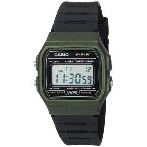 送料無料 チープカシオ CASIO F-91WM-3A メンズ レディース 腕時計 デジタル チプカシ グリーン ブラック F91WM-3A 代引き不可|zumi