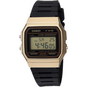 送料無料 チープカシオ CASIO F-91WM-9A メンズ レディース 腕時計 デジタル チプカシ ゴールド ブラック F91WM-9A 代引き不可|zumi