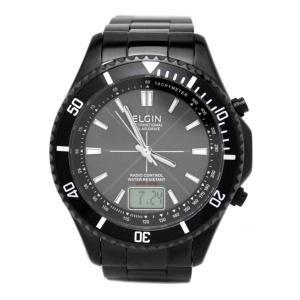 エルジン ELGIN 電波 ソーラー ワールドタイム 腕時計  アナログ デジタル アナデジ FK1371B-BP|zumi