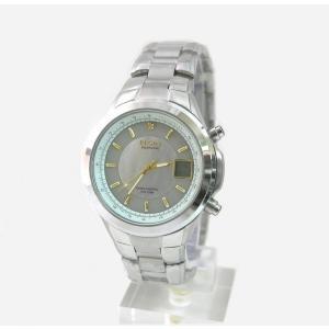 ELGIN エルジン ソーラー電波腕時計 メンズ シルバー FK1383S-BRP|zumi
