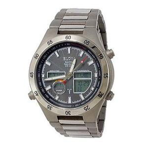 エルジン ELGIN 電波 ソーラー メンズ腕時計 チタン FK1390TI-BP|zumi