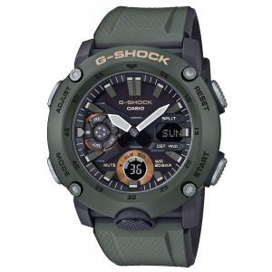 送料無料 CASIO G-SHOCK 腕時計 メンズ GA-2000-3A カーボンコアガード ブラック×グリーン|zumi