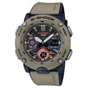送料無料 CASIO G-SHOCK 腕時計 メンズ GA-2000-5 カーボンコアガード カーキ|zumi