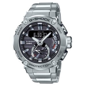 腕時計 ジーショック G-STEEL ソーラー カーボンコアガード構造 GST-B200D-1A メンズ シルバー|zumi