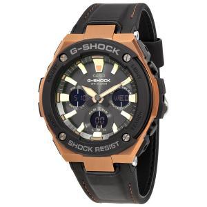 CASIO(カシオ) 腕時計 G-SHOCK G-STEEL タフソーラー GST-S120L-1A ブラック×ブラウン 海外モデル 腕時計 メンズ レザーバンド|zumi