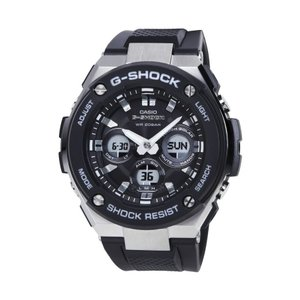 【タイムセール】G-SHOCK GST-S300-1A カシオ シルバーxブラック CASIO 腕時計 メンズ アナデジ ソーラークォーツ G-STEEL Gスチール