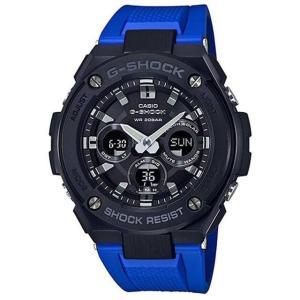 送料無料 G-SHOCK GST-S300G-2A1 カシオ ブルーxブラック CASIO 腕時計 メンズ アナデジ ソーラークォーツ G-STEEL Gスチール ジーショック|zumi