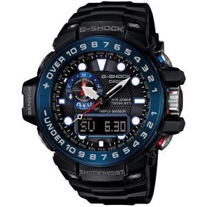 送料無料 CASIO G-SHOCK Gショック GULFMASTER ガルフマスター GWN-1000B-1B ブラックxブルー 腕時計 メンズ 海外|zumi