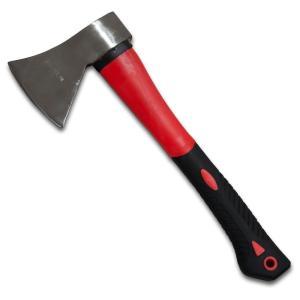 コンパクト斧 万能斧 ハンドアックス 薪割り用 全長35cm  アウトドアの必需品! 薪割りなどで活...