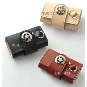 キーケース 鍵入れ  高級牛革 メンズ IMPALA インパラ 900 ヌメ革使用|zumi
