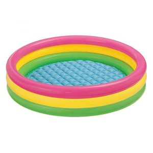 【商品説明】 INTEX社製のオシャレな3リングデザインのベビープール。 小さなお子様の水遊びに最適...