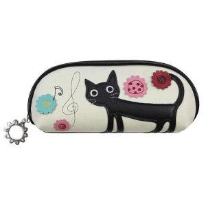 メガネケース 眼鏡入れ ネコ 猫 ノアファミリー  雑貨  キャット J393|zumi