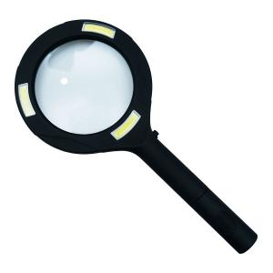 COB LED ルーペ  【製品仕様】 ・大口径レンズ:8cm ・本体全長24cm ・単三乾電池:2...