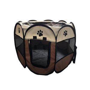ペットサークル ペットゲージ 犬 猫 メッシュ 折りたたみ式 Lサイズ ファスナー式 室内 室外 アウトドア お出かけ|zumi