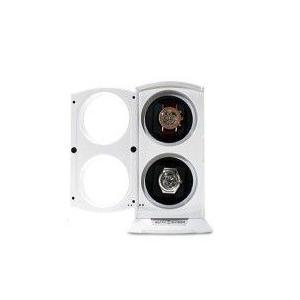 ワインディングマシーン 2本巻きホワイト KA015WH LEDライト付 ワインディングマシン 自動巻き ウォッチワインダー zumi