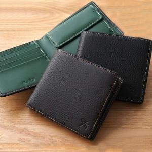 財布 メンズ 二つ折り 本革/ アーノルドパーマー 鹿革&牛革 二つ折り財布 AP-S112 父の日|zumi