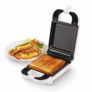 送料無料 着脱式シングルホットサンドメーカー 朝食 おやつ ホットサンド KDHS-003W 6枚切り 簡単 キッチン家電 D-STYLIST zumi