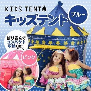 送料無料 あすつく 子供用 テントハウス キッズテント ブルー ピンク 男の子 女の子 秘密基地 専用ケース入り お家の中でも外でも両方楽しめる 売れ筋 大人気|zumi