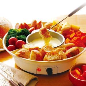 送料無料 チーズフォンデュメーカー KK-00445 マルチフォンデュ チョコフォンデュ バーニャカウダ カレー トマト キャラメル 着脱式 D-STYLIST|zumi