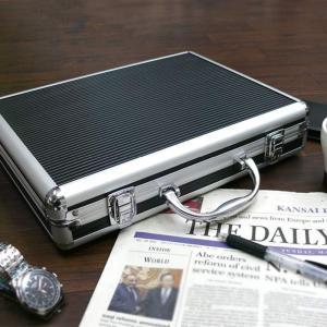 アタッシュケース アルミ A4 薄型 軽量 アルミ製 ビジネスバッグ ビジネスケース【送料無料】|zumi