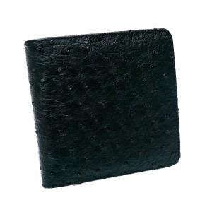 『RaimondoValentino』 上品なオーストリッチ型押し 折財布 KT-565|zumi