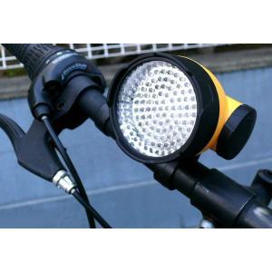 サイクルライト 自転車用ライト 電灯 LED128灯 長寿命 3段階切替【あすつく】|zumi