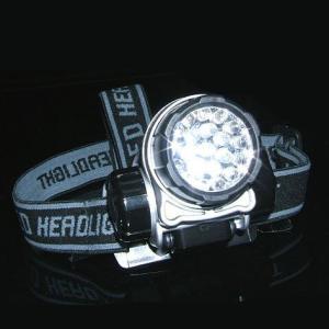 LED21灯ヘッドライト(ヘッドランプ) 3段階切替 高輝度 角度調節可 アウトドア キャンプ 釣り|zumi