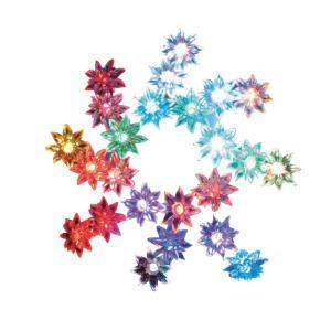 円高還元♪LED花ジュエリーライト LDS-F24 クリスマスイルミネーション★ツリーにも★|zumi