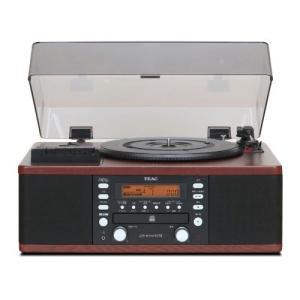 TEAC ターンテーブル/カセットプレーヤー付CDレコーダー LP-R550USB-WA ウォルナット【】|zumi