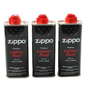 ZIPPO ジッポーライター用 純正 オイル 小缶 133ml 【3本セット】|zumi
