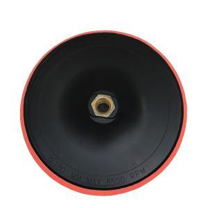 ポリッシャーパッドディスク レッド 研磨作業パッド マジックテープ ボルト径14mm Φ180 8500RPM 180mm 電気ドリル用|zumi