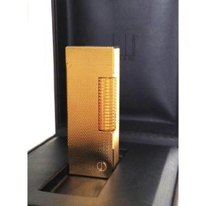 ダンヒル dunhill ライター RL1401 ゴールドカラー ガスライター|zumi