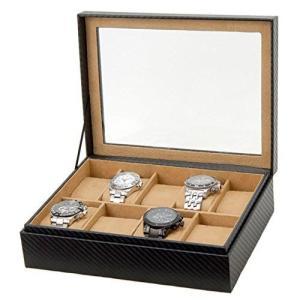 腕時計ケース 腕時計収納 収納ケース 9本収納タイプ カーボン調 ブラック ボックス CABOX8 zumi