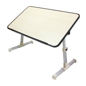 15.6型ワイドサイズ対応 高さ5段階&角度調節OK!サイドテーブル 軽量アルミフレーム/コンパクト収納/ストッパー付き 机 〓 ラップトップ|zumi