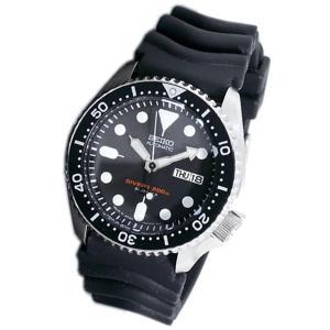 セイコー SEIKO ダイバー ブラックボーイ 自動巻き 腕時計 SKX007J1 SEIKO純正ボックス|zumi