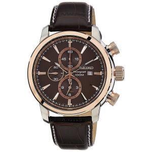 SEIKO SNAF52P1 メンズ腕時計 海外モデル アラームクロノグラフ 革ベルト|zumi