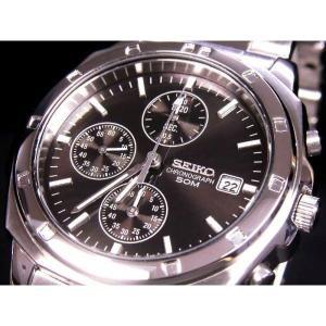 SEIKO SND191PC メンズ腕時計 海外モデル クロノグラフ ブラック|zumi