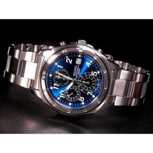 SEIKO SND193PC メンズ腕時計 海外モデル クロノグラフ ブルー|zumi
