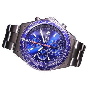 SEIKO SND255P1 SND255PC メンズ腕時計 海外モデル クロノグラフ ブルー|zumi