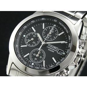 SEIKO SND309PC セイコー メンズ腕時計 海外モデル クロノグラフ ブラック|zumi