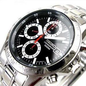 SEIKO SND371PC メンズ腕時計 海外モデル クロノグラフ ブラック|zumi