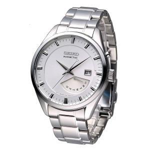 送料無料 セイコー SEIKO SRN043P1 クオーツ KINETIC キネティック レトログラード メンズ 腕時計 シルバー|zumi