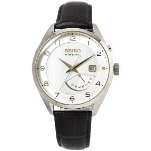 送料無料 SEIKO SRN049P1 メンズ 腕時計 海外モデル キネティッククォーツ ホワイト セイコー レトログラード|zumi
