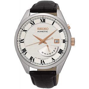 送料無料 セイコー SEIKO SRN073P1 キネティック クオーツ レトログラード メンズ 腕時計 シルバー|zumi