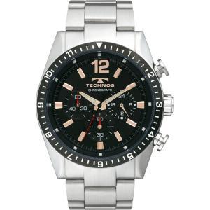 【ポイント5倍!】TECHNOS テクノス クロノグラフ メンズ 腕時計 ブラック T1019TH|zumi