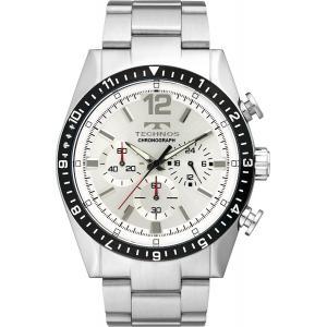 【ポイント2倍!】テクノス TECHNOS 腕時計 T1019TS クロノグラフ ホワイト メンズ腕時計|zumi
